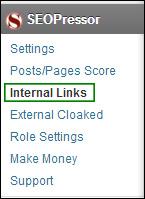 SEOPressor settings Internal Link