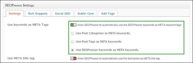configure meta tags