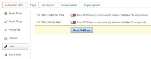 Nofollow on Images and External Links
