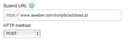 POST URL for Aweber in Twitter Lead Gen card