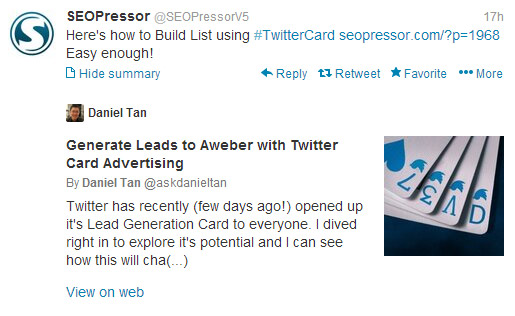 Twitter Card - Powerful Social Search Tools