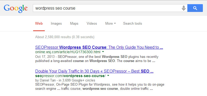 SEOPressor WordPress SEO Course
