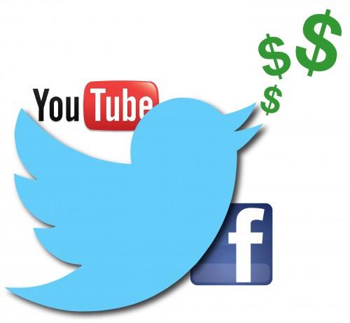 Twitter Facebook Youtube Make Money Online Social Media