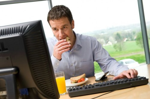 Eating In Front Of Computer Internet