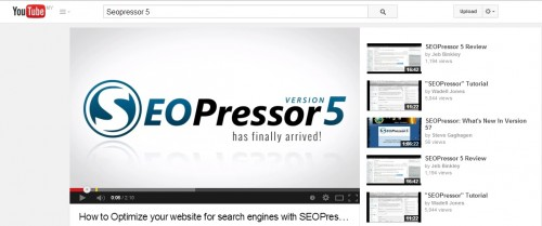 SeoPressor5 Youtube Social Marketing