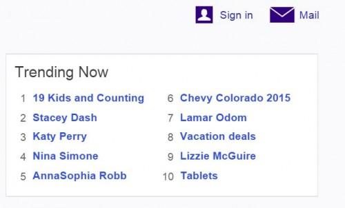 Yahoo Trends