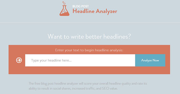 Headline Analyzer free blogging tools