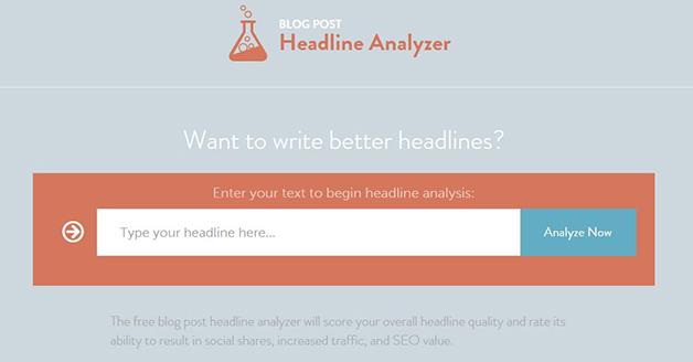 Headline Analyzer free blogging tools