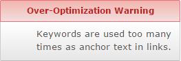 over-optimization-warning