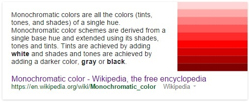 Monochromatic Color Definition how psychology of color affects your marketing and branding