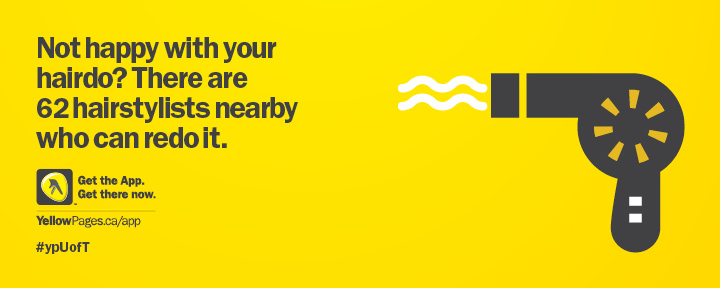 Yellow pages use a genius idea to promote their new mobile app.