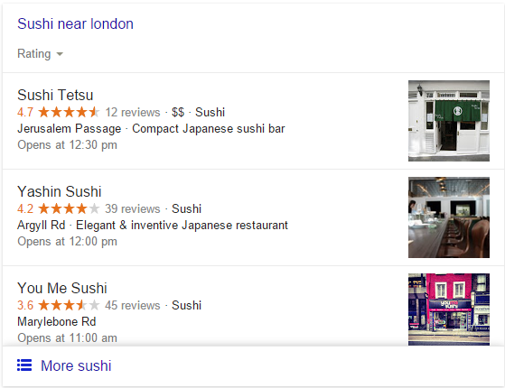 Sushi Near Me for personalized search