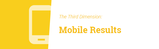 Third Dimension: Mobile Results