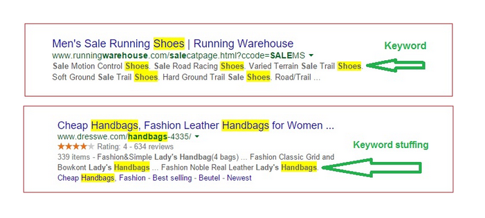 Don't overstuff your meta description with keywords
