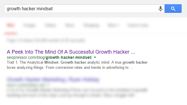 Growth Hacker Behavior Screenshot