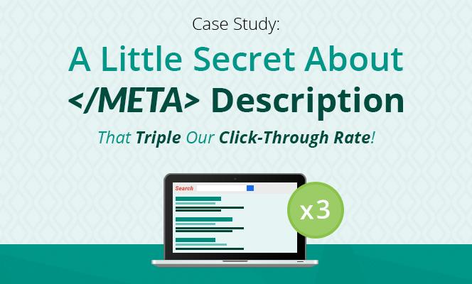 A little secret about meta description that triple our CTR