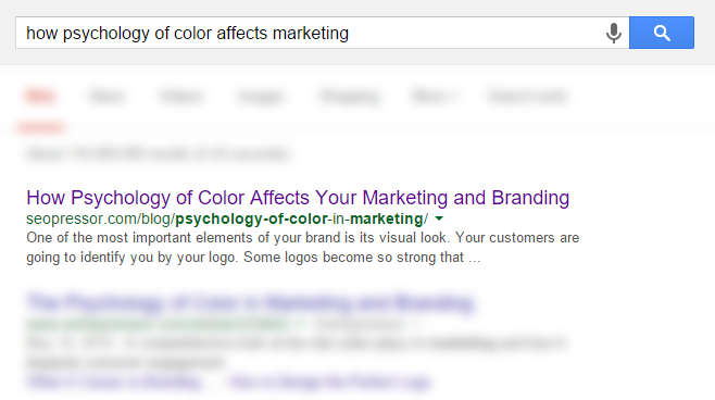 how psychology of color affects marketing screenshot