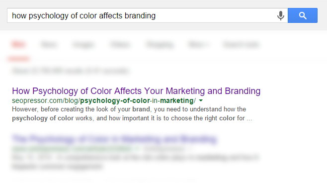 how psychology of color affects branding screenshot