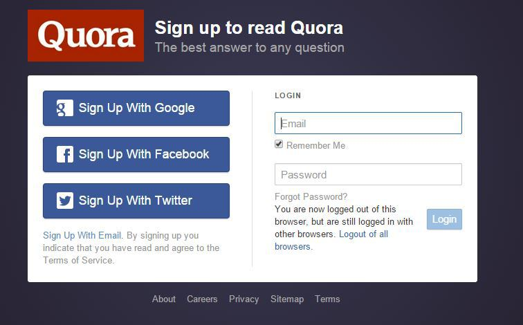 Quora is one of the most popular Q&A sites.