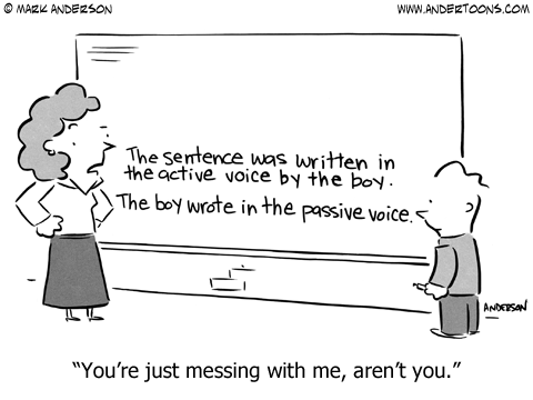 Focus on writing in active voice.