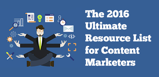 2016 resource list for content marketers