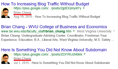 on page seo Author Name - SERP