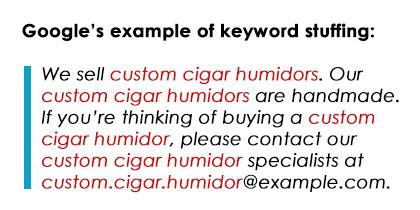 Google-Keyword-Stuffing-Example