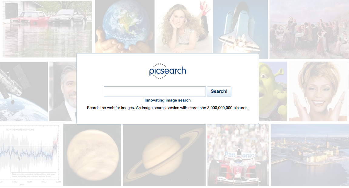 Picsearch provides image search services for large websites.