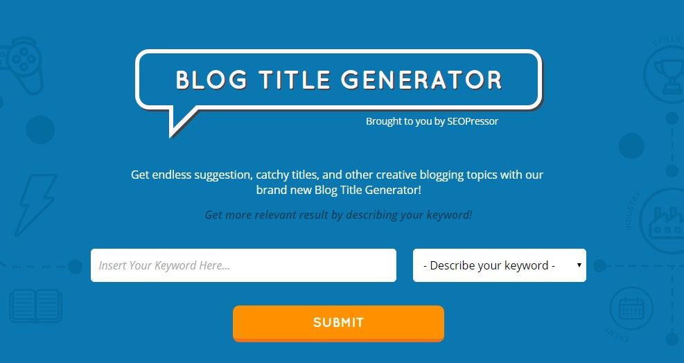 blog title generator is an example out of many content marketing tools available