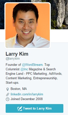 Just like how Larry did it - a friendly smile will tend to get more followers.