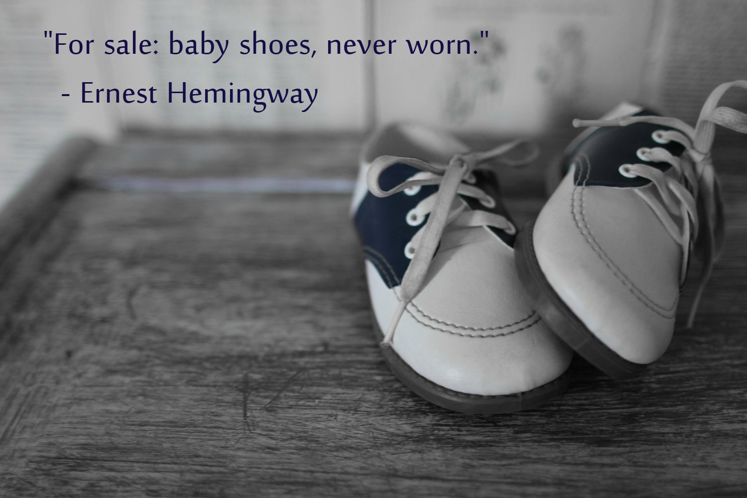 Six Word Novel Baby Shoes