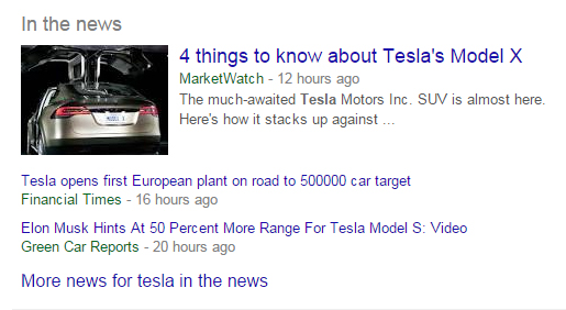 A considerably smaller Knowledge Graph display, but still quite impactful.