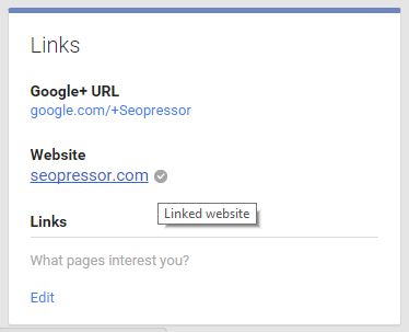 Linking your Google+ account to your website will make it even easier for Google to recognize your brand.