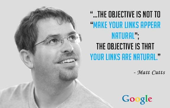 Google want webmasters to earn their links naturally, not bought or inflated through artificial means.