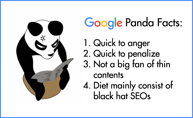 google panda algorithm is created to get rid of black hat seo