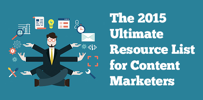 the 2015 ultimate resource list for content marketers