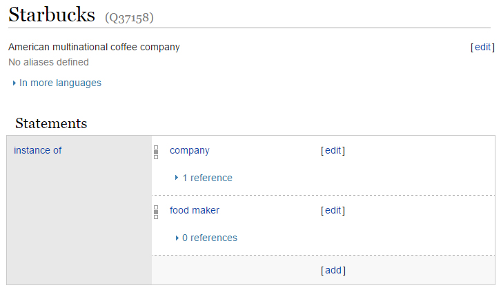 An example of Wikidata entry.