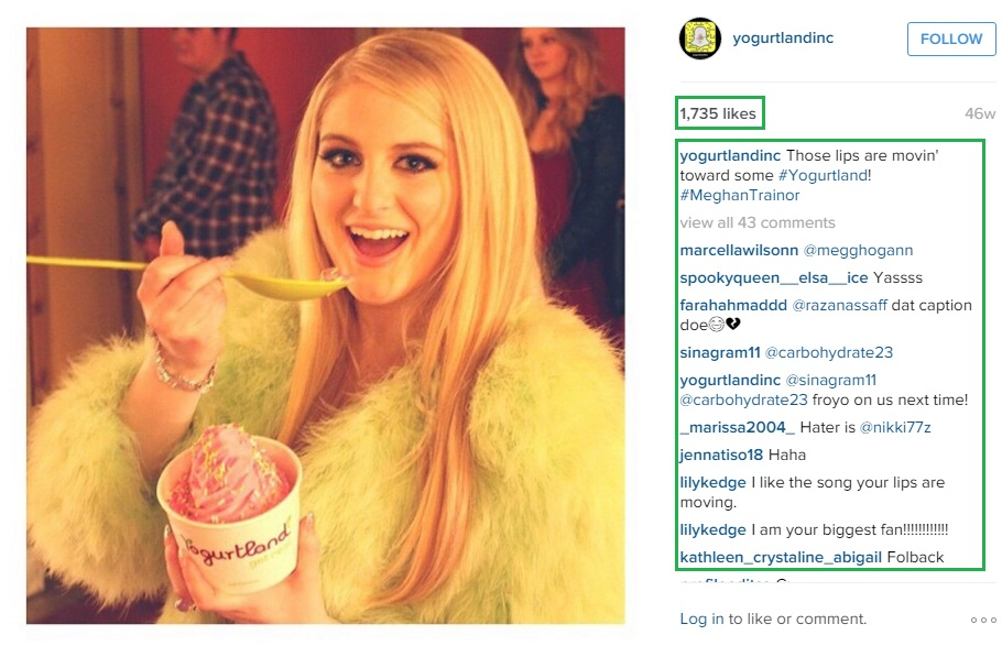 Meghan having a great time enjoying Yogurtland.