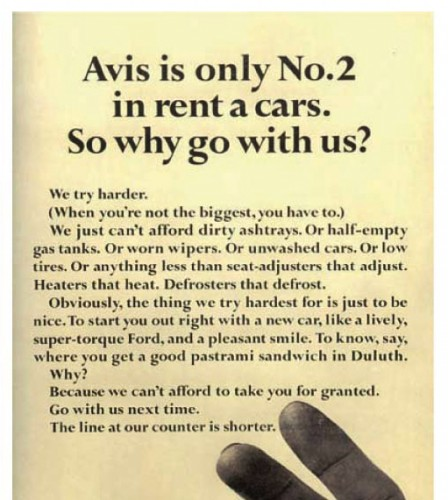 Honest marketing by Avis