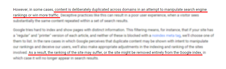 To defend against negative SEO means to be vigilant with duplicated contents