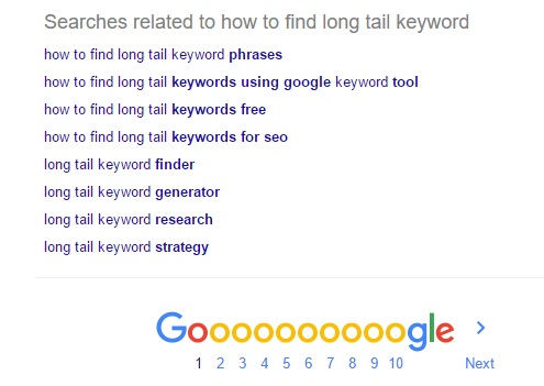 google-related-keywords