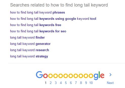 google-related-keywords