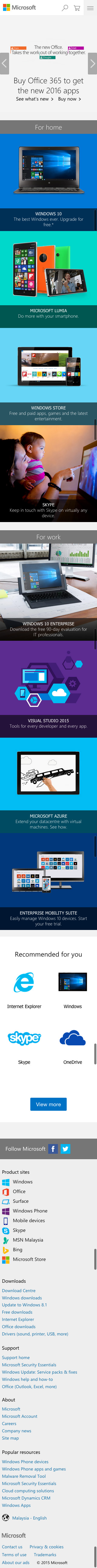 microsoft mobile website