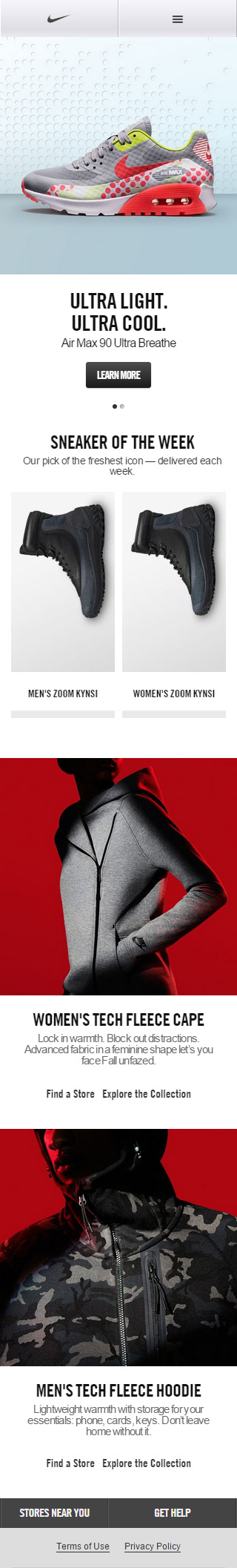 nike mobile website