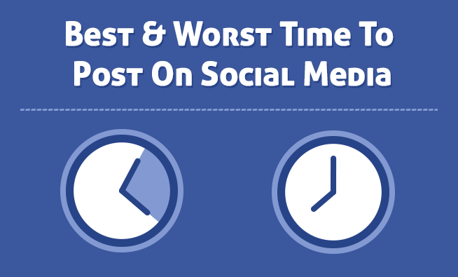 the best and worst time to post on social media