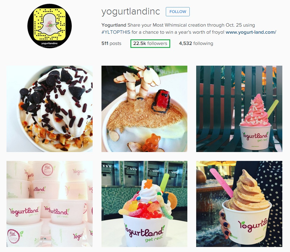 See how Yogurtland use Instagram Marketing effectively.