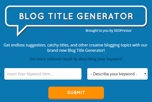 Blog Title Generator By SEOPressor for what is evergreen content