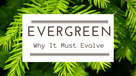 Evergreen cover page for what is evergreen content