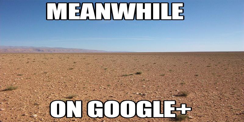 Common perception of the general population regarding Google Plus