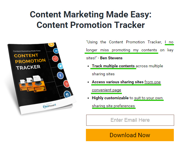 The article talks about content promotion and the offer helps the readers in doing it.